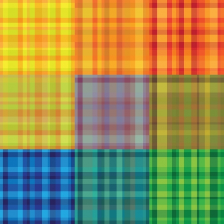 seamless rainbow plaid vector pattern