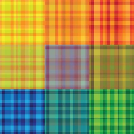 seamless rainbow plaid vector pattern