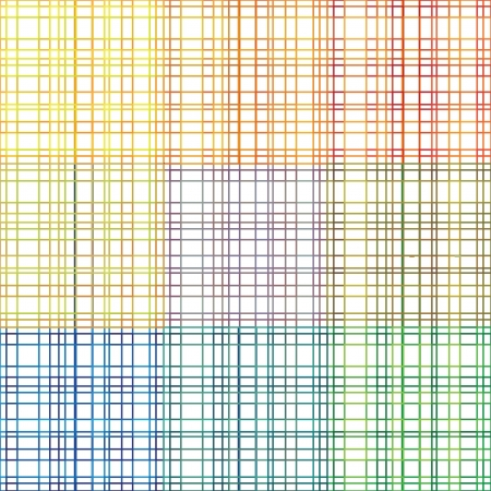 stroked: seamless stroked rainbow plaid vector pattern