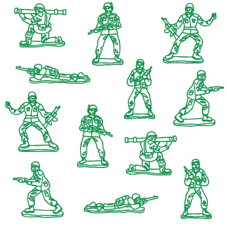 toy soldier vector Vector