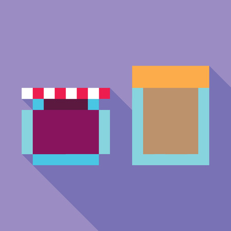 comic duo: Peanut Butter Jelly dynamic duo pixelated flat design flat design icon