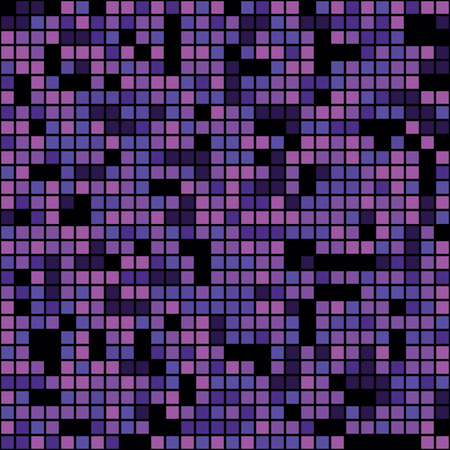 Seamless purple pixel mosaic background pattern Illustration