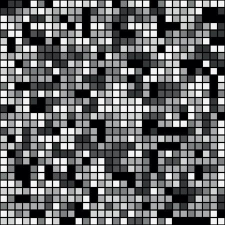 Seamless gray pixel mosaic background pattern