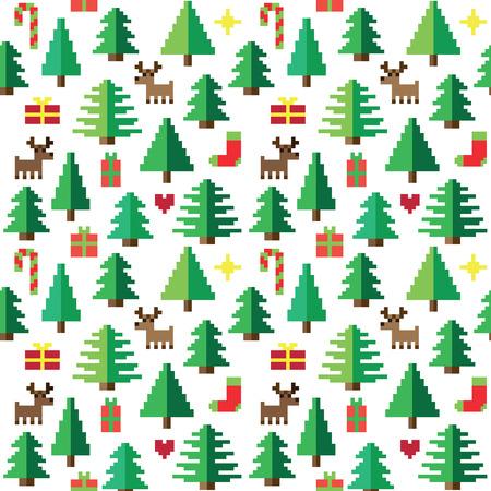 bonhomme de neige: Motif de Pixel color� avec des �l�ments de No�l