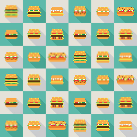 comic duo: Seamless pattern citizen frieze, dynamic duo flat design Illustration