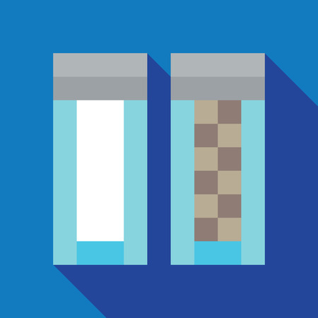 Salt and Pepper dynamic duo pixelated flat design icon Illustration