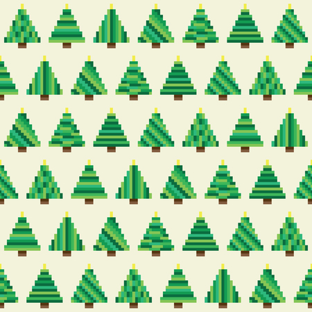 Seamless pattern with Christmas tree for winters holidays design Illustration