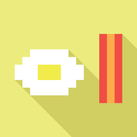 Egg bacon dynamic duo vector icon