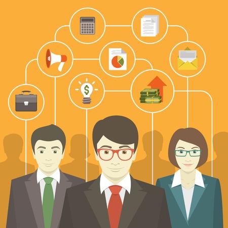 Praca w zespole profesjonalistów, doradztwa biznesowego Ilustracje wektorowe