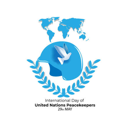 Vector illustration concept of International Day of United Nations Peacekeepers. May 29. Vector Illustration