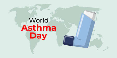 Vector illustration for world asthma day-4 may