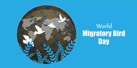Vector illustration of World Migratory Bird Day, 8 May. Vecteurs