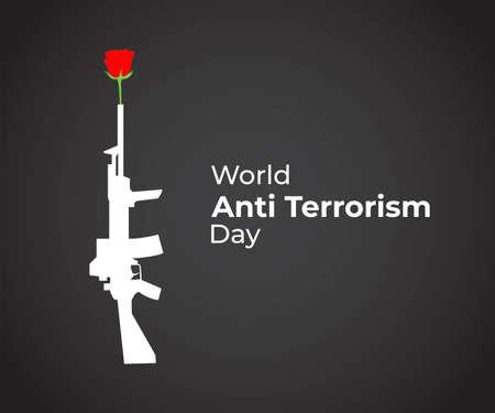 vector illustration for world anti terrorism day Vector Illustration