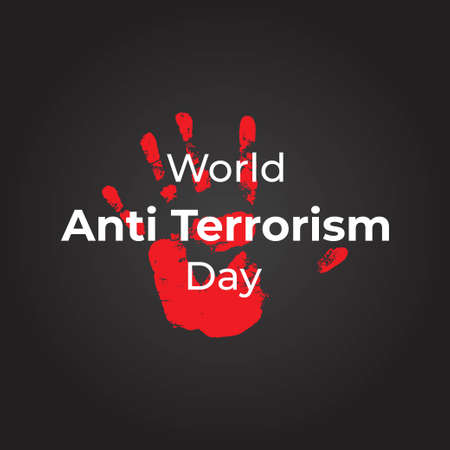 vector illustration for world anti terrorism day Vecteurs