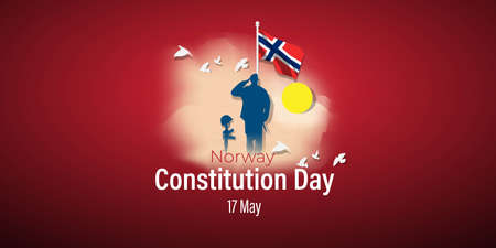 vector illustration for Norway constitution day-17 May