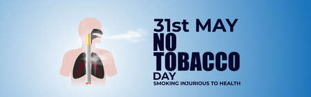 Vector illustration concept for World no tobacco day, 31 may