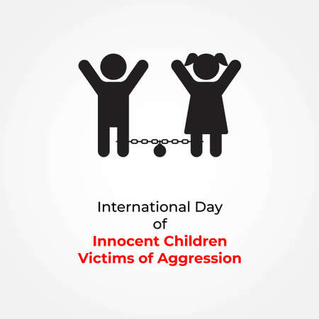 vector illustration for international day of innocent children victims of aggression