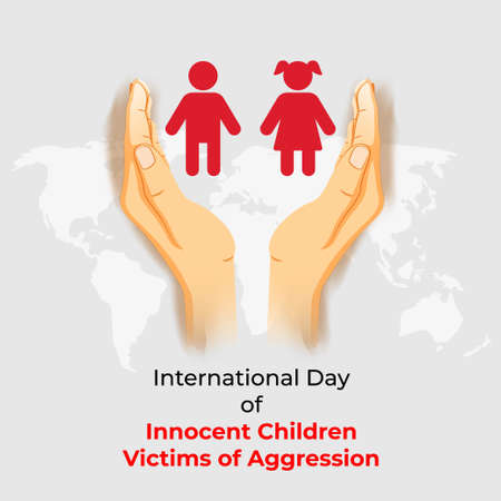 vector illustration for international day of innocent children victims of aggression Vettoriali