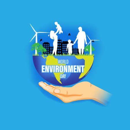 vector illustration for world environment day-5 june
