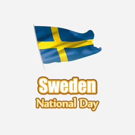 vector illustration for Sweden national day
