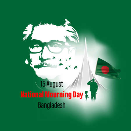 vector illustration for mourning day bangladesh-15 august