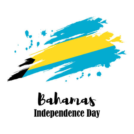 vector illustration for Bahamas independence day Vetores
