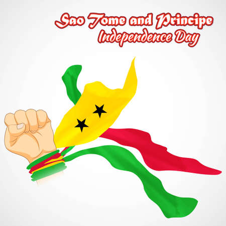 vector illustration for Sao-tome-principle independence day