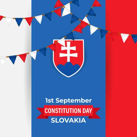 vector illustration for Slovakia constitution day - 1 September Vetores