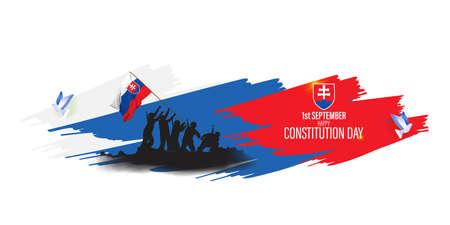 vector illustration for Slovakia constitution day - 1 September