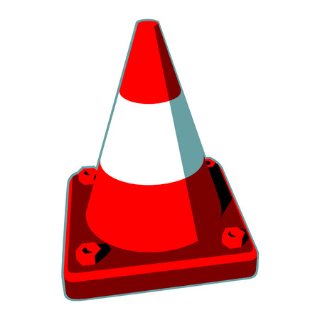 roadblock: Vector image of traffic cones, which are often seen as a roadblock. Illustration