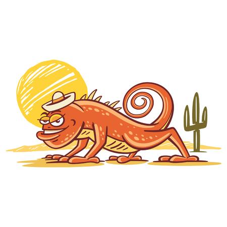 Deze gekke monster is erg dorstig in de hitte van de woestijn.