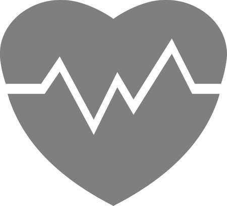 Heart with a pulse chart. Vector image on a white background.