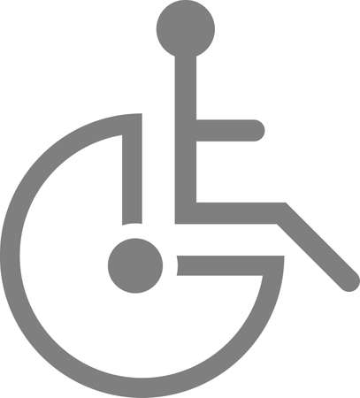 Wheelchair man icon. Vector image on a white background.