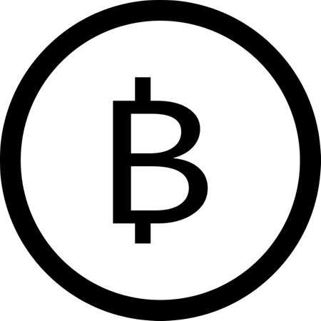 The logo of the bitcoin cryptocurrency. A coin image for use in web projects or mobile apps. An illustration isolated on a white background.
