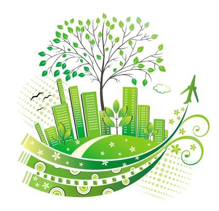 Green city.  Ilustração