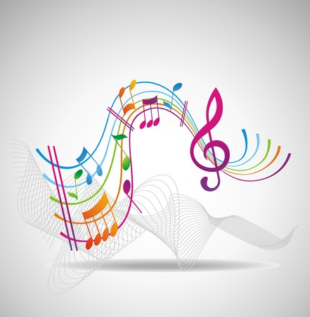 Colorful music background. Stock Vector - 7281477