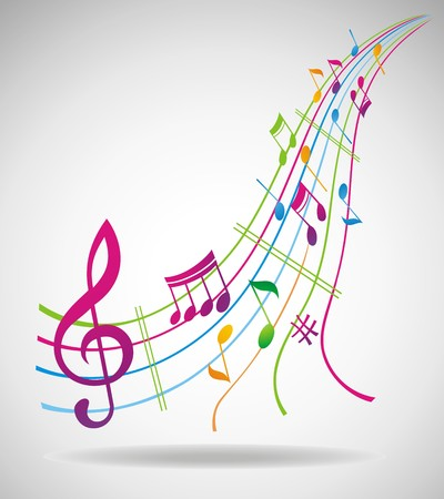 Colorful music background. Stock Vector - 7281474