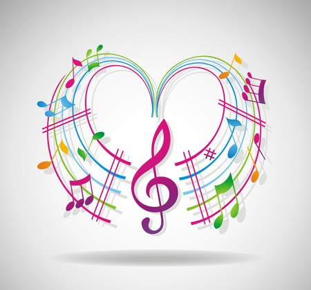 Colorful music background. Stock Vector - 7281478