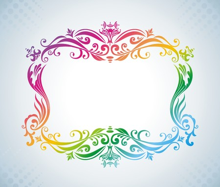 Colorful vintage frame. Stock Vector - 7281483