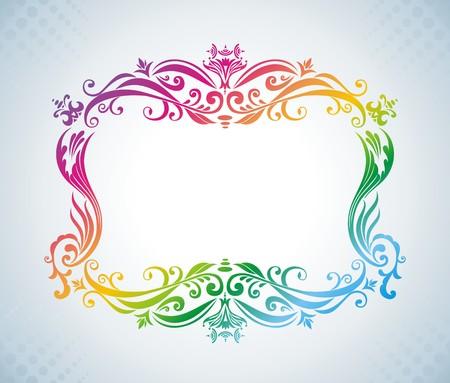 Colorful vintage frame. Stock Vector - 7281483