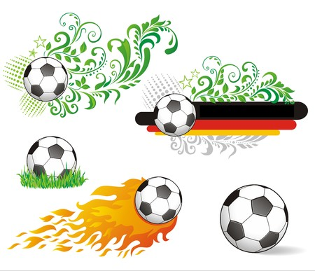 Set of soccer ball. Vector