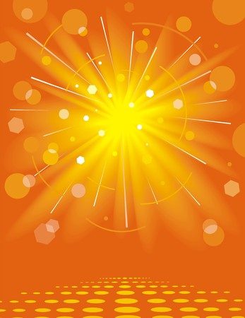 Solar background. Vector