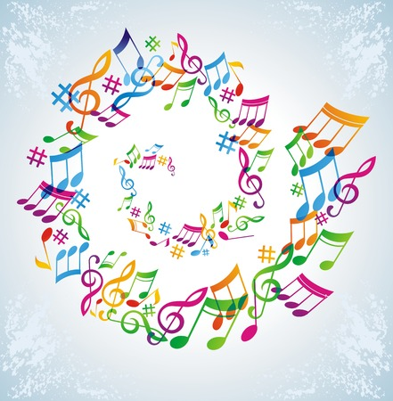 Colorful music background. Stock Vector - 7444260