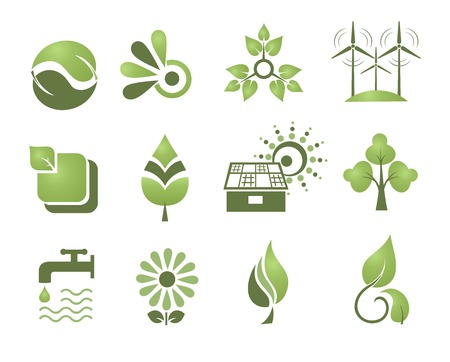 Set of design elements. Environment. Stock Vector - 8082118