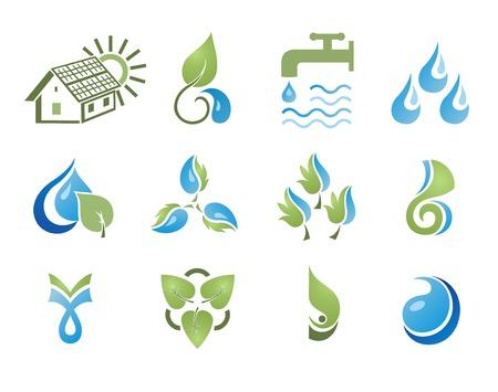 Set of design elements. Environment. Stock Vector - 8082120
