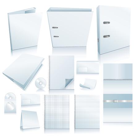 Conjunto de elementos de oficina. Realistas de imágenes de vector.  Ilustración de vector