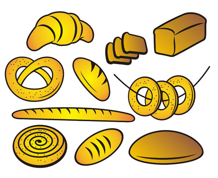 Bakery products.  Vector