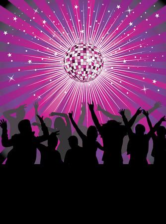 Vie nocturne dans le club disco.