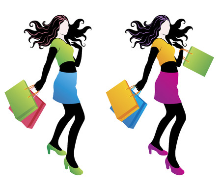 citylife:  Shopping fashion girl.
