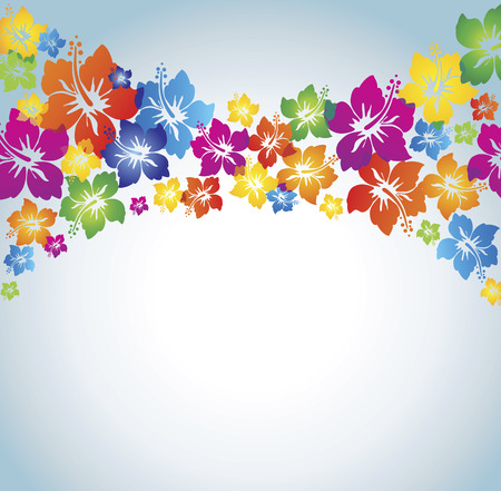 Hibiscus. Colorful background. Vector